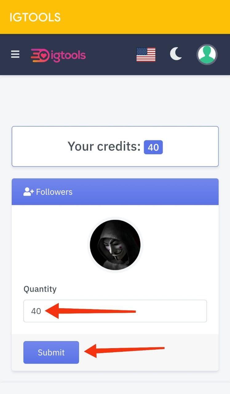 Enter Followers Quantity